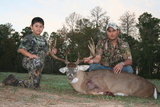 Whitetail Buck taken by Ram at Circle E Ranch in Texas - Ram and R.J.