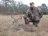 Very Nice Whitetail Buck harvested by Steven Deblasio at Circle E Ranch in Texas