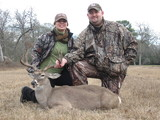 Great Whitetail Buck harvested by Steven Deblasio at Circle E Ranch in Texas Steven and Brandy Deblasio