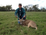 Whitetail hunts in Texas - Nice Whitetail harvested by Rickey Simmons at Circle E Ranch in Texas