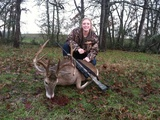 Trophy Whitetail Buck Hunting - Great Whitetail harvested by Kinley McFarlin at Circle E Ranch in Texas