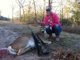 Trophy Whitetail Buck Hunt - Fantastic Whitetail Buck harvested by Kera Gipson at Circle E Ranch in Texas